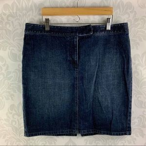 LOFT Denim Skirt - Petite but can fit Regular!